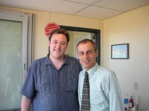 Me and Robert at Emerald Downs, 2009