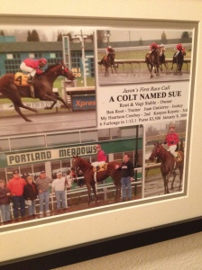 Here's a picture of that race that hangs in my hallway.