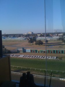 John's view from the booth at the Fair Grounds