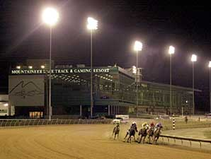 Mountaineer Race Track under the lights
