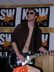 Chris Walbridge on lead guitar.  He looks so boss here
