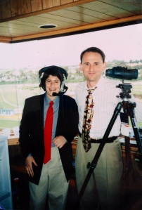 Jonathan with Michael Wrona at Hollywood Park in 1999