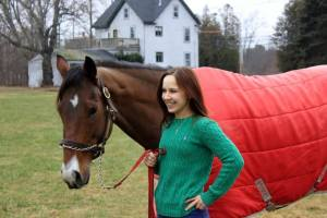 Jessica with her horse What a Trippi