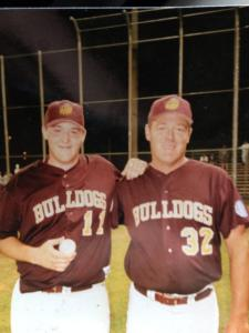 Dad and I on my 18th birthday.  I hit a homer that night